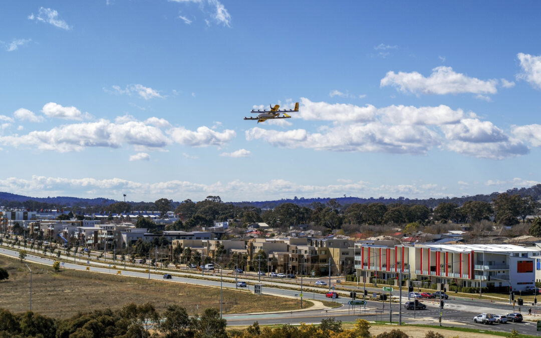 Local drone business Wing, says Logan has been dubbed the 'drone delivery capital of the world'