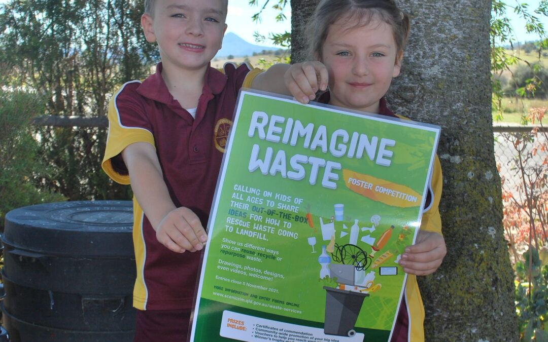Roadvale State School students have found a solution for food waste with their special 'Bin Chicken'