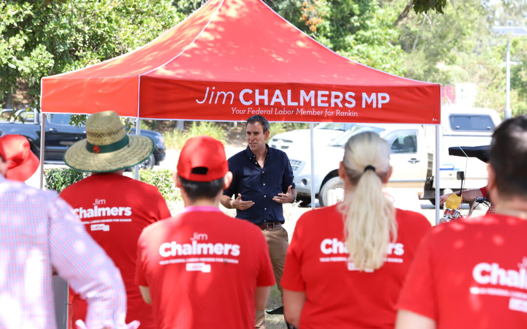Federal Member for Rankin Jim Chalmers kicks off his election campaign